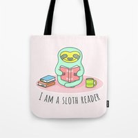 Reading Sloth Tote Bag