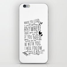Gilmore Girls Where You Lead theme song  iPhone & iPod Skin