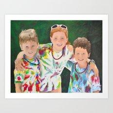 Luke, Hadley, and Peter Morgan Art Print