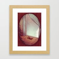 winter romance Framed Art Print