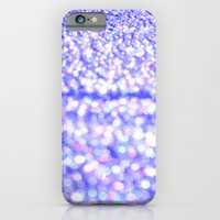 glitter iPhone & iPod Cases featuring Periwinkle Glitter Sparkle by WhimsyRomance&Fun