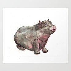 Hippo Lumpkin Art Print