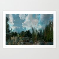 In The Cool Of The Evening In The Desert Art Print