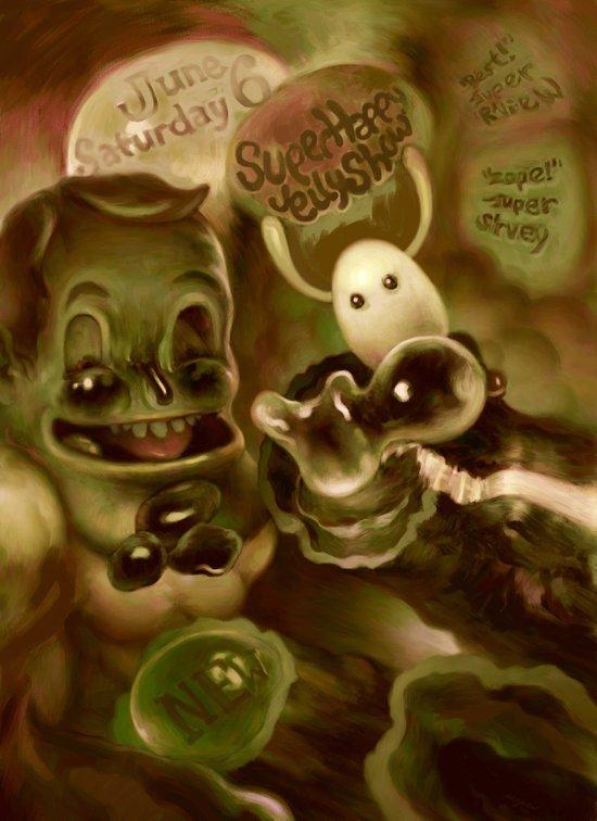 Super Happy Jelly Show Art Print