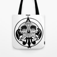 skull and pen Tote Bag