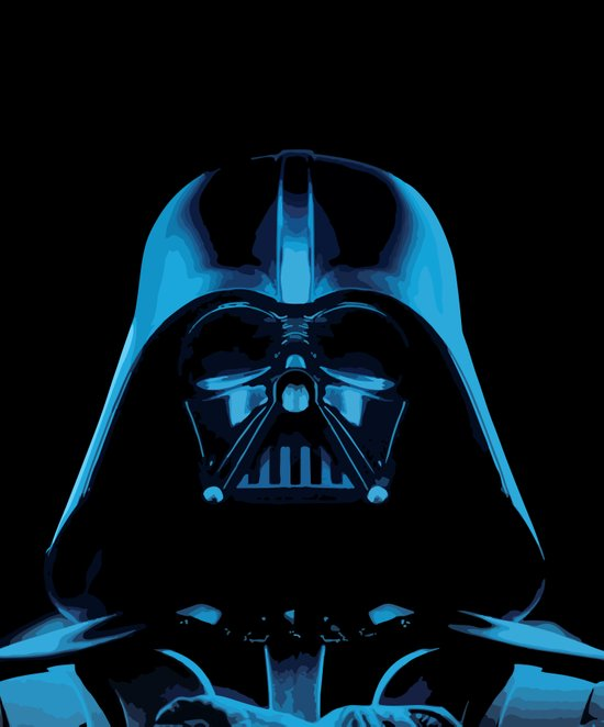The Dark Vader, Star Wars Tribute Art Print