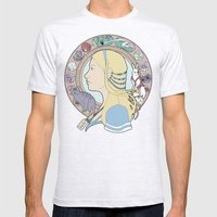Alice in Wonderland Art Nouveau  Mens Fitted Tee Ash Grey SMALL
