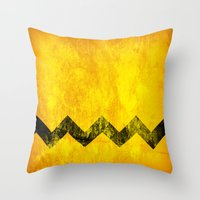 Distressed Charlie Brown Throw Pillow