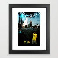 The Strokes at Bonnaroo 2011 Framed Art Print