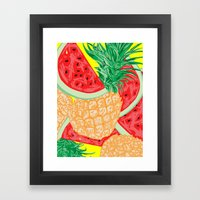 Watermelon and Pineapple, 2013. Framed Art Print