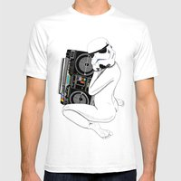 Boombox Trooper Mens Fitted Tee White SMALL