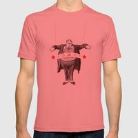 Am I Fat? Mens Fitted Tee Pomegranate SMALL
