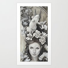 Le rêve d'Alice Art Print