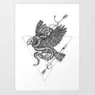 Art Print featuring The Eagle  by TerryEmi
