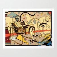 Bauhaus Kandinsky Mash Up Art Print