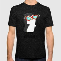 Fabulous Penguin Mens Fitted Tee Tri-Black SMALL