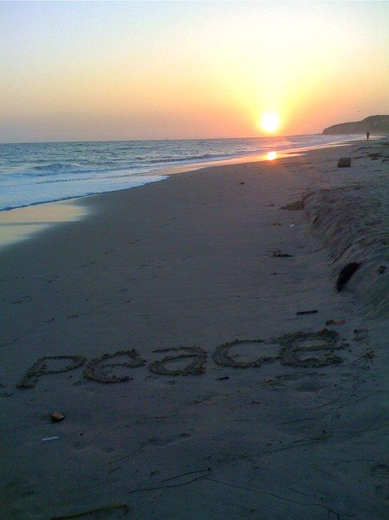 Peace on the Beach Art Print