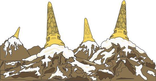 Mountain Top Ice Cream Art Print