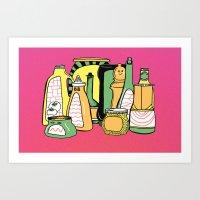 Color Your Condiments  Art Print