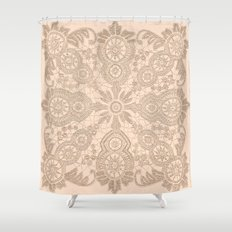 Pale Pink Lace Shower Curtain