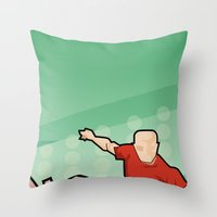 Soccer game Throw Pillow
