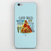 My Mind On My Pizza  iPhone & iPod Skin