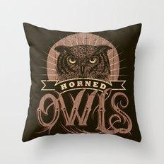 Team Owl Throw Pillow