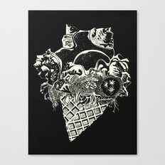 World Ice Cream with Starry Topping Canvas Print