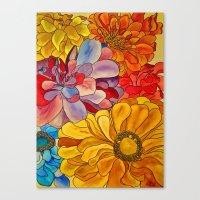 Flower Water Canvas Print