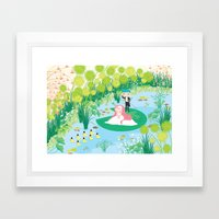 on the way home Framed Art Print