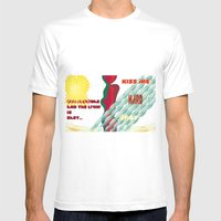 Summertime Mens Fitted Tee White SMALL
