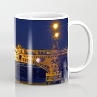 Nocturnal Lights on the river Spree in Berlin Mug