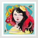 Lady Nautical Art Print