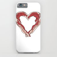 iPhone & iPod Case featuring Baconlove by Irate Lobster Art