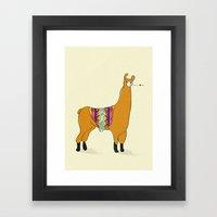 Peruvian Lama Framed Art Print