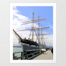 Great Ship in the San Francisco Bay Harbor Art Print