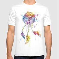 Dreamcatcher White SMALL Mens Fitted Tee