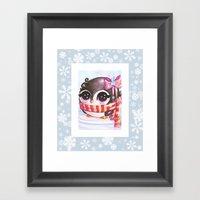Snowy Penguin  Framed Art Print