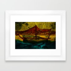 An ancient ship Framed Art Print