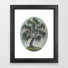 Sunny Live Oak Framed Art Print