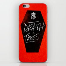 Death & Taxes iPhone & iPod Skin