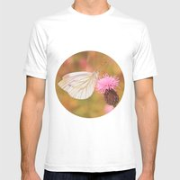 Another Butterfly  Mens Fitted Tee White SMALL