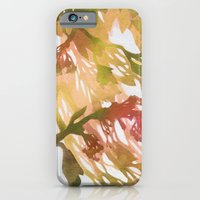 iPhone & iPod Case featuring Morning Blossoms 2 - Olive Variation by Claire Astra