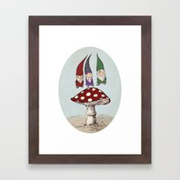 Levitating Gnomes Framed Art Print