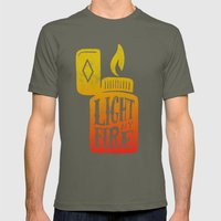 Light My Fire V2 Mens Fitted Tee Lieutenant SMALL