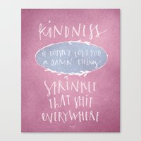 Kindness Quote Wall Art Calligraphy Canvas Print
