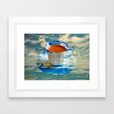 CUP OF CLOUDS Framed Art Print