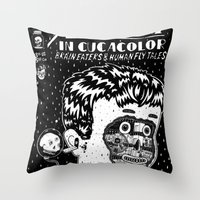 Adventures In Cucacolor Throw Pillow