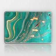 Ocean Gold Laptop & iPad Skin