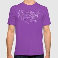 Ride Statewide - USA Mens Fitted Tee Ultraviolet SMALL